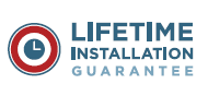Lifetime guarantee on installation-related issues